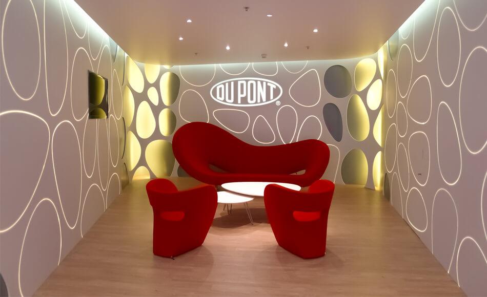 Fibre optique et Corian - DuPont Genève. Crédit photo : JB Henriot